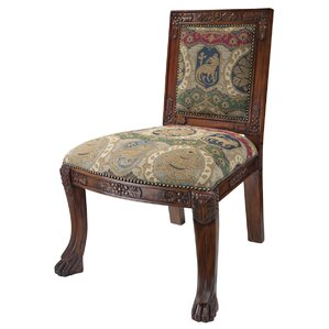 Beardsley Heraldic Lion Fabric Side Chair by..