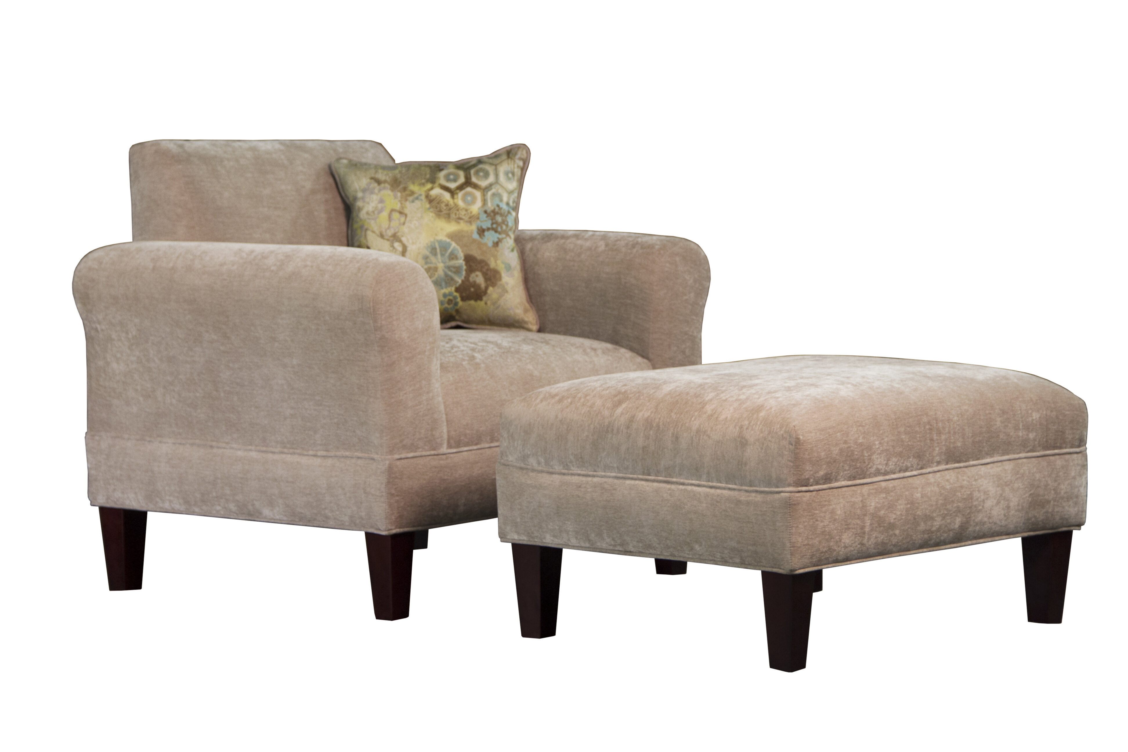 Carolina Accents Tracy Porter Armchair And Ottoman With Accent Pillow |  Wayfair
