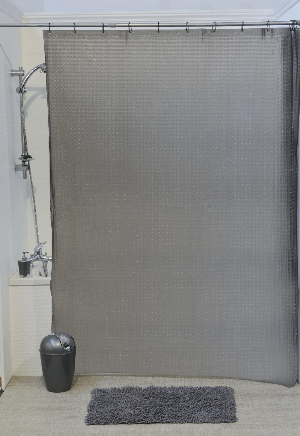 Evideco Laser Eva 3D Effect Shower Curtain
