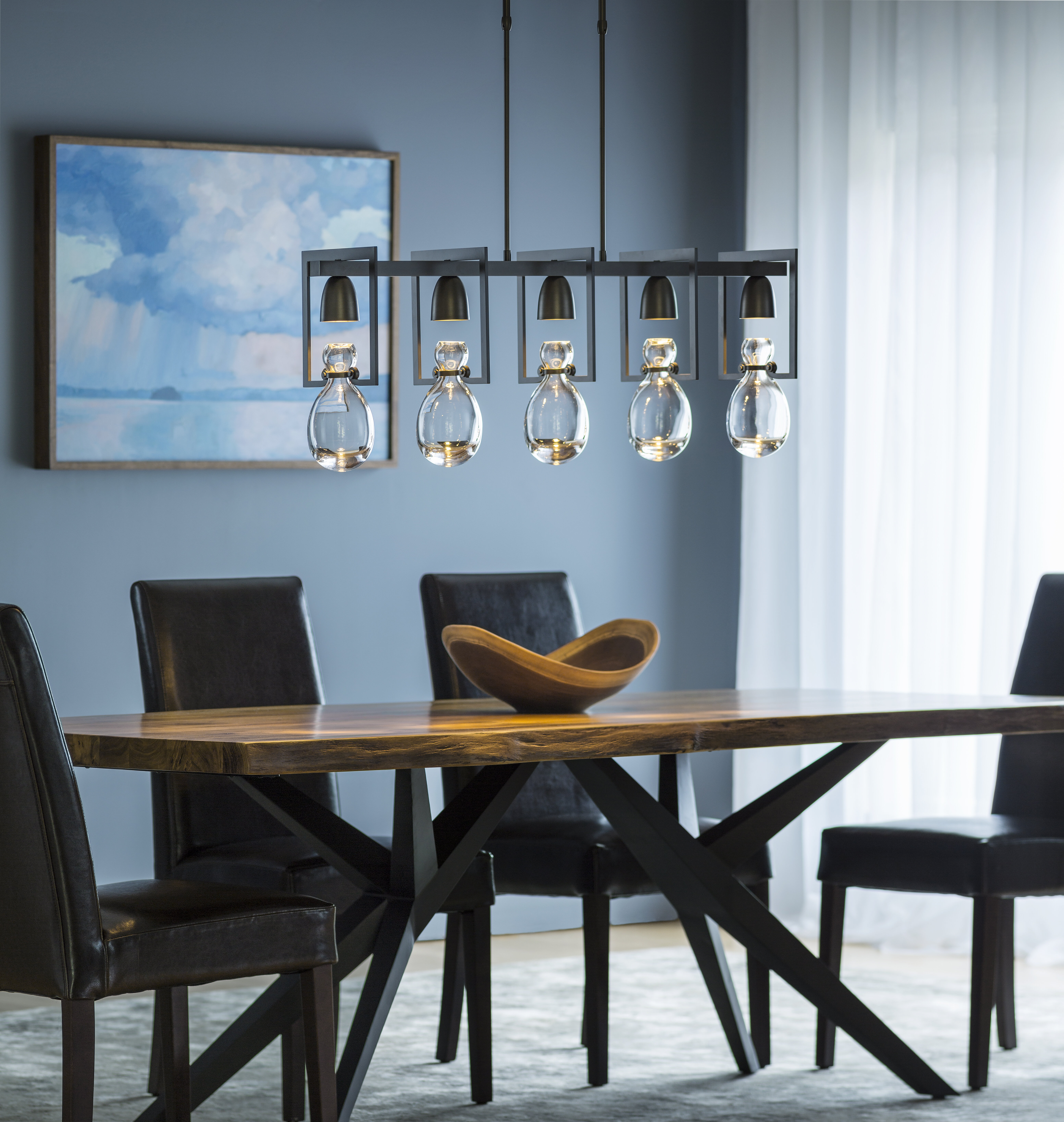 Hubbardton Forge New Traditional Apothecary 5-Light Kitchen Island ...