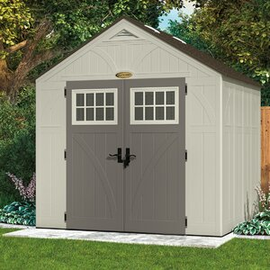 Tremont 8 ft. 5 in. W x 7 ft. 2 in. D Plastic Storage Shed