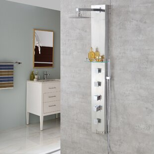 Shower Panel Diverter Thermostatic Adjule Head With Valve