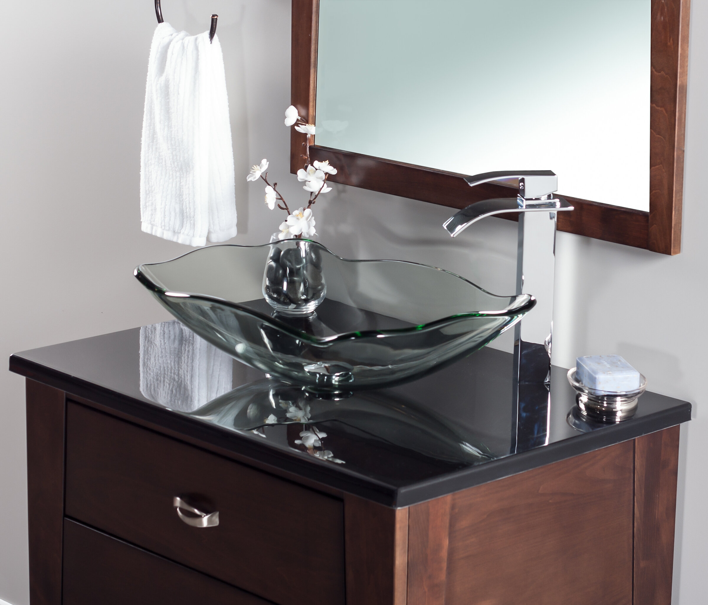 Etonnant Novatto Oblong Glass Vessel Bathroom Sink U0026 Reviews | Wayfair