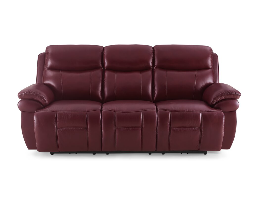 Boston Leather 3 Seater Reclining Sofa