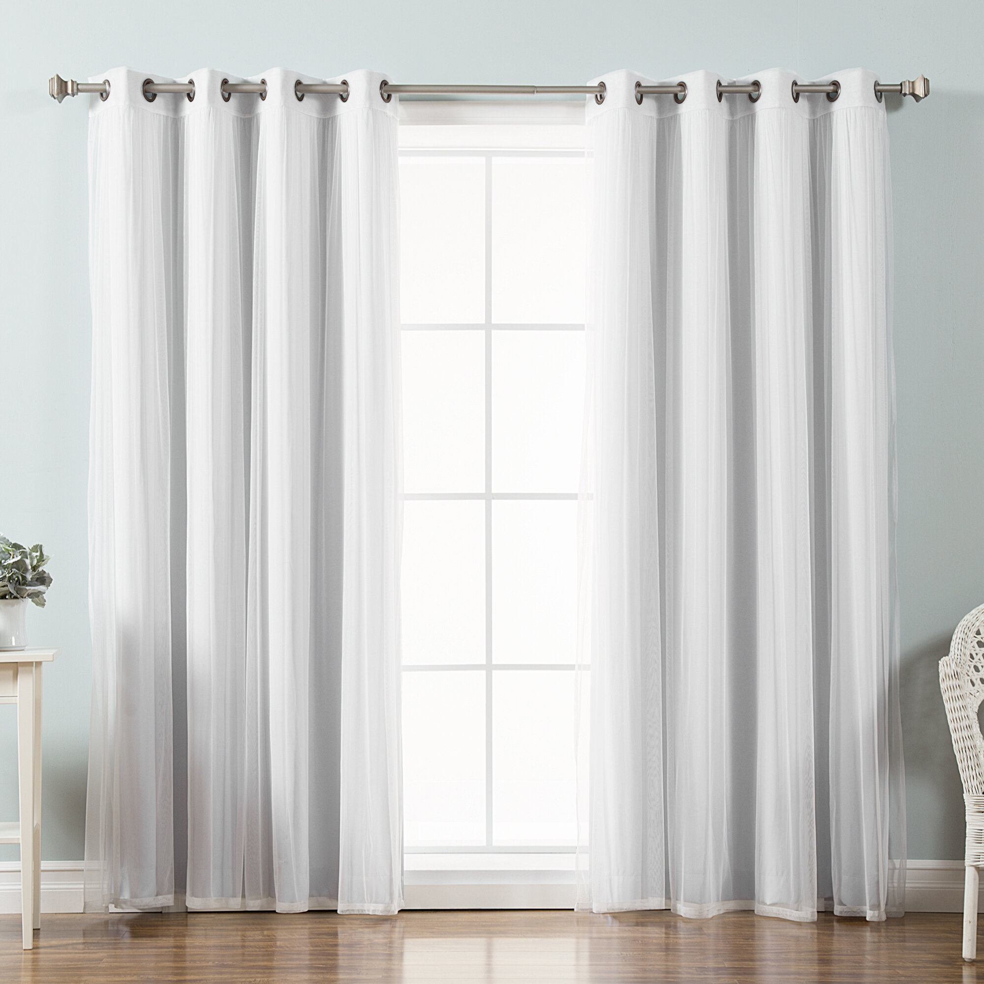 Willa Arlo Interiors Brunilda Solid Blackout Thermal Grommet Curtain