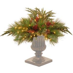 decorative prelit pine artificial filling foliage topiary