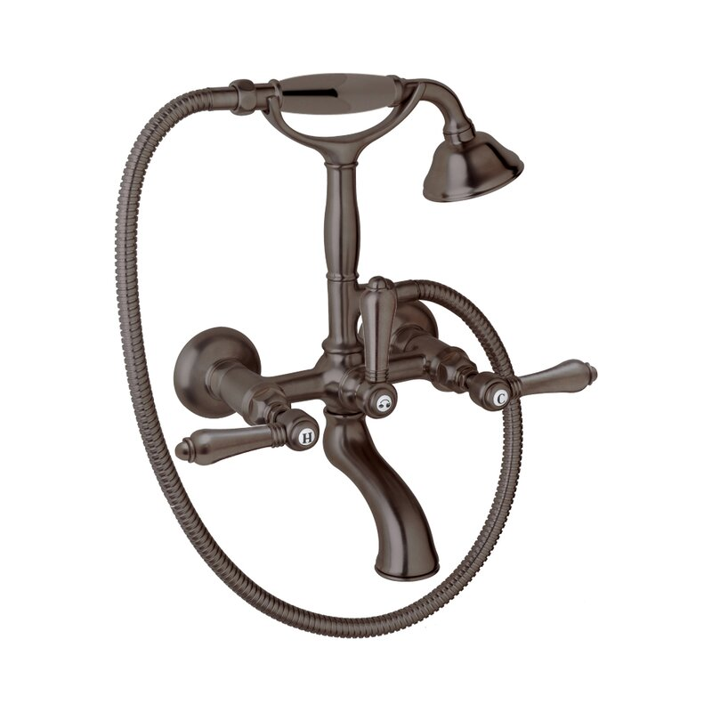 Rohl Country Bath Triple Handle Wall Mount Tub Only Faucet with Hand ...