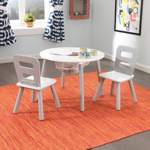 & KidKraft Kids 3 Piece Round Table and Chair Set u0026 Reviews | Wayfair