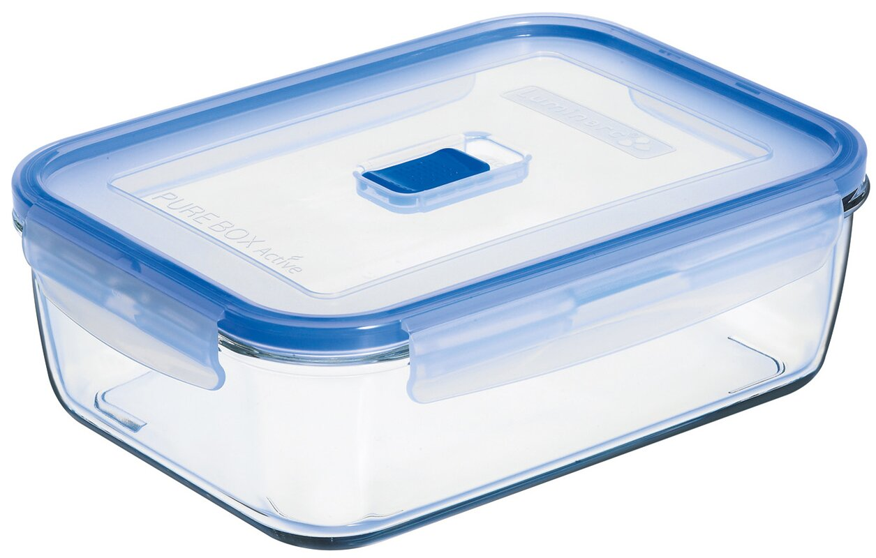 Pure Box Active Rectangular 66.4 Oz. Food Storage Container