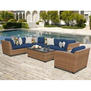Laguna 8 Piece Sectional Seating Group with Sunbrella Cushion
