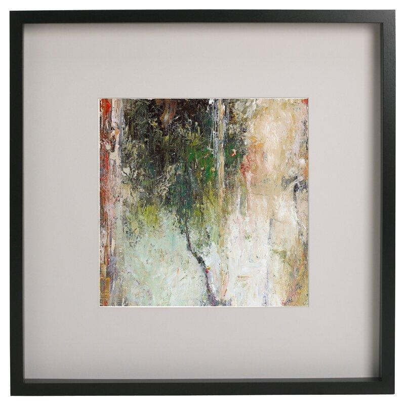 Ebern Designs \'Abstract Tree\' Framed Acrylic Painting Print | Wayfair