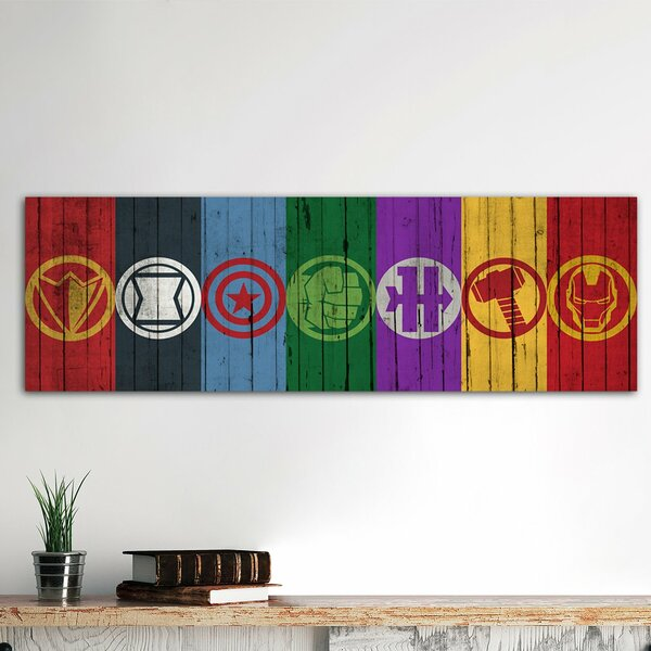 East Urban Home \'Comics Avengers Symbols\' by Marvel Comics Wall Art ...