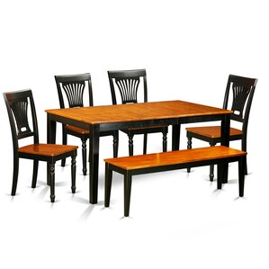 Nicoli 6 Piece Dining Set by East West Furniture