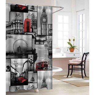 London Land Heavy Weight Waterproof Vinyl Single Shower Curtain