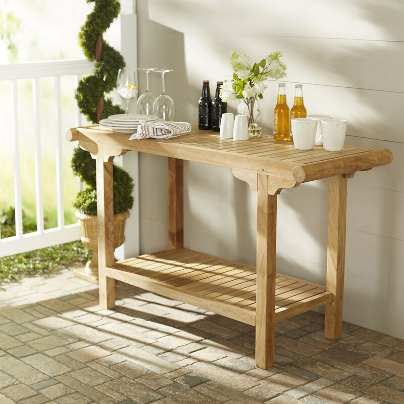 Darby Home Co GeorgiaMay Teak Buffet Console Table Reviews - Teak outdoor buffet table