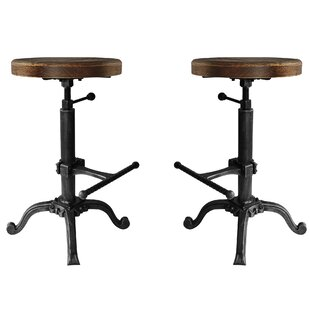 Hoggard Backless Adjustable Height Swivel Bar Stool - set of 2 (Set of 2)