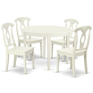 Kratzer 5 Piece Solid Wood Breakfast Nook Dining Set