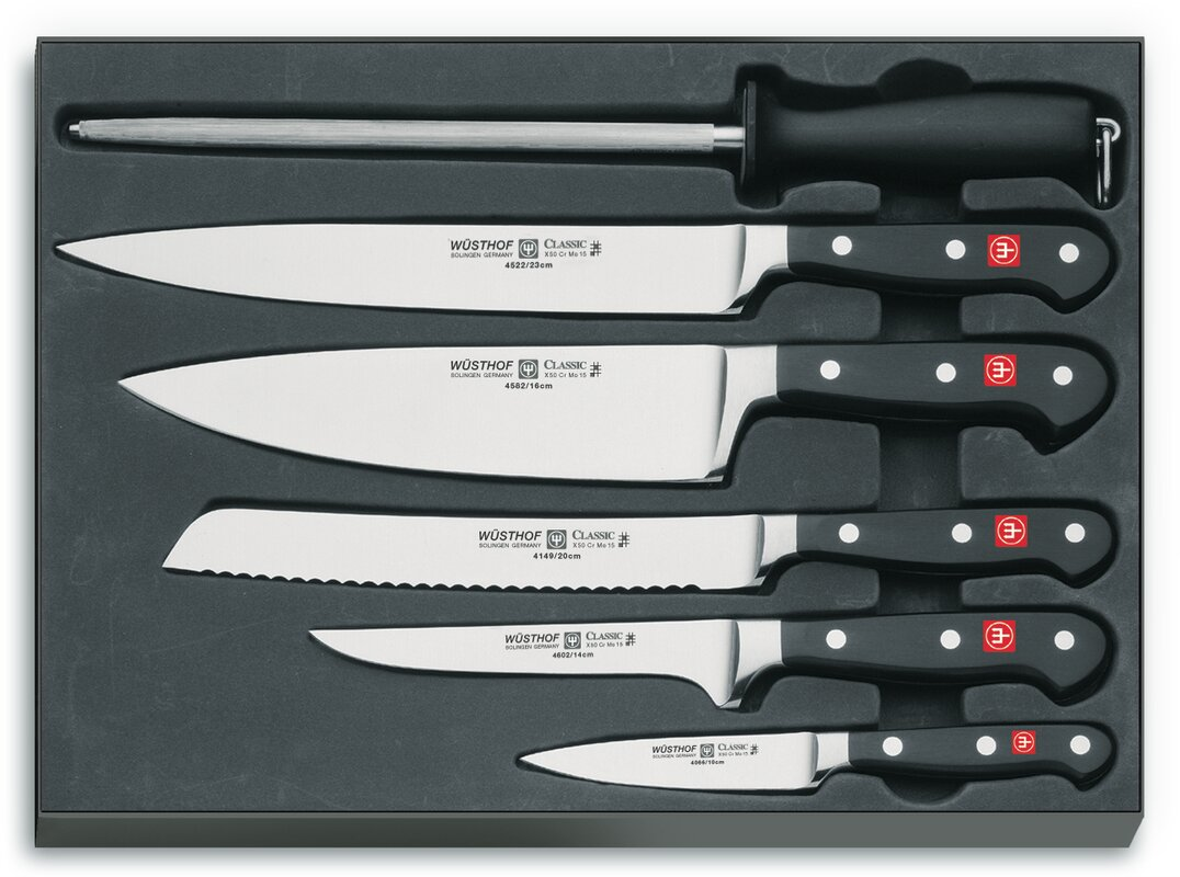 wusthof classic 6 piece chef s knife set reviews wayfair default name