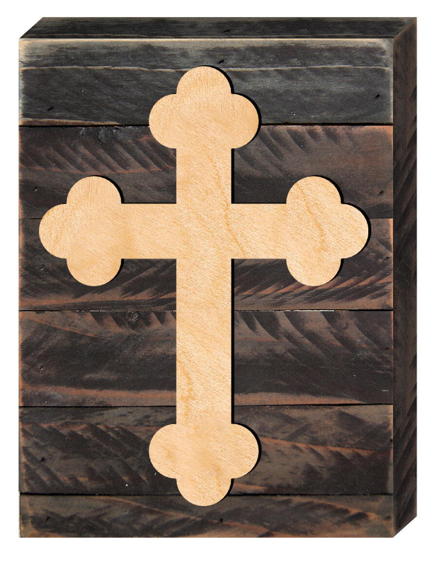 aMonogramArtUnlimited Cross on Wooden Decorative Board Wall Décor ...