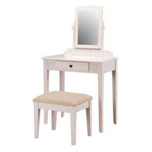 off white vanity table.  Off White Bedroom Vanity Set Wayfair