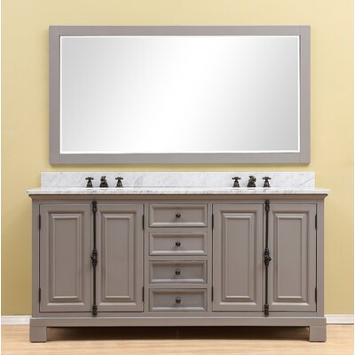 "Extra Large Double Bathroom Vanities darby home co essie 60"" double vanity set with backsplash"