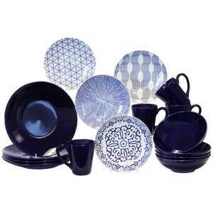 16 Piece Dinnerware Set, Service for 4