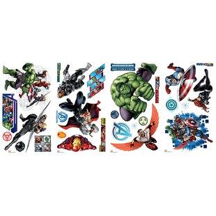 Marvel Comics  The Avengers  Assemble Wall Decal  sc 1 st  Wayfair & Superheroes u0026 Villains Wall Decals Youu0027ll Love | Wayfair