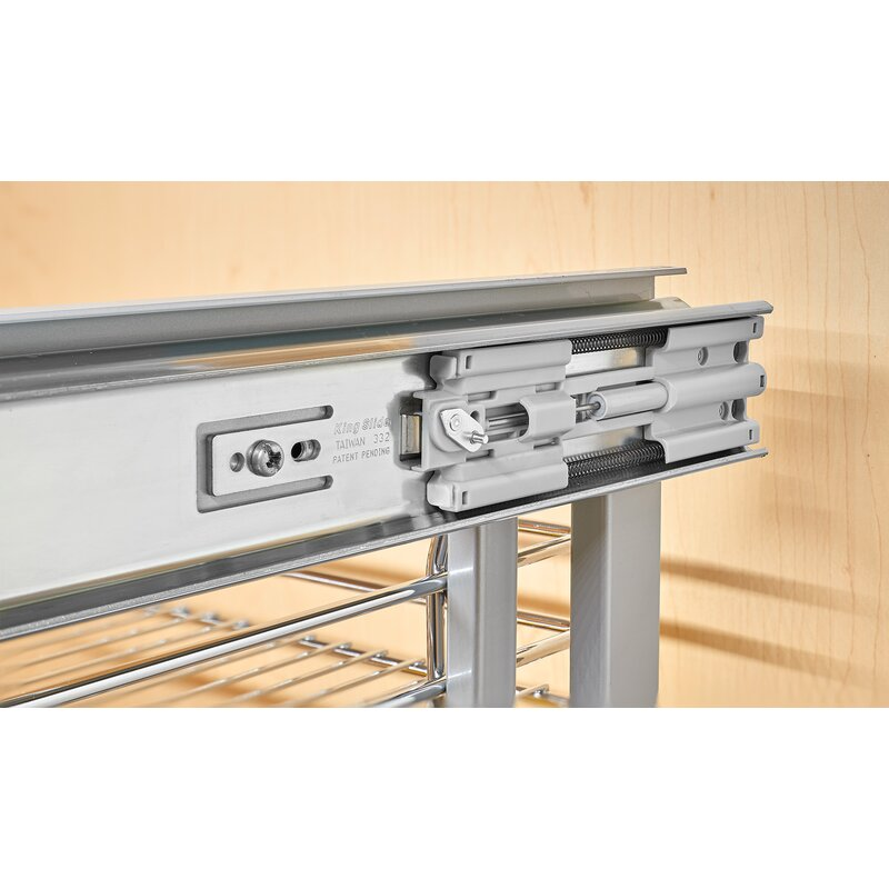 Rev A Shelf 2 Tier Pull Out Base Cabinet Basket Drawer: Rev-A-Shelf Blind Corner Cabinet Pull-Out Chrome 2-Tier