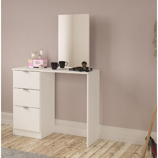 vanity table. Pohlman Vanity With Mirror Table