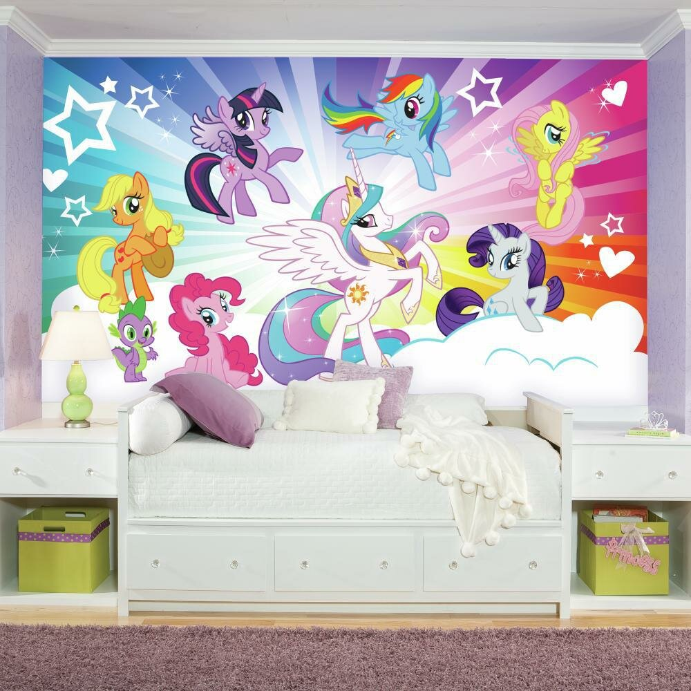 Room Mates Prepasted My Little Pony Cloud Xl Chair Rail Ultra Strippable 10 5 L X 6 W Wall Mural Wayfair