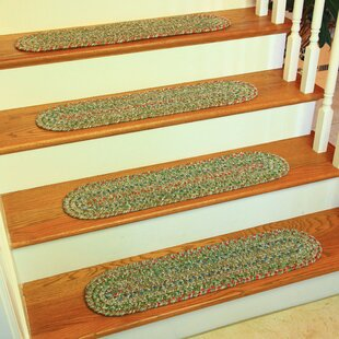 Cornelija Moss/Green Indoor/Outdoor Stair Tread (Set Of 13)