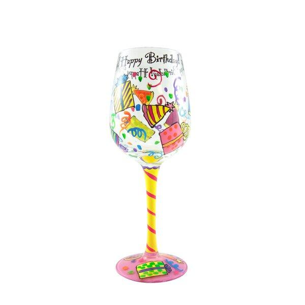 top shelf happy birthday wine glass wayfair - Happy Birthday Wine Glass