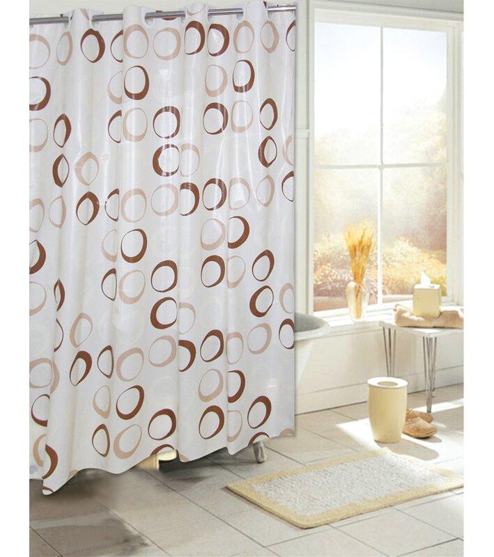 Ebern Designs Netherton Circles EVA Single Shower Curtain