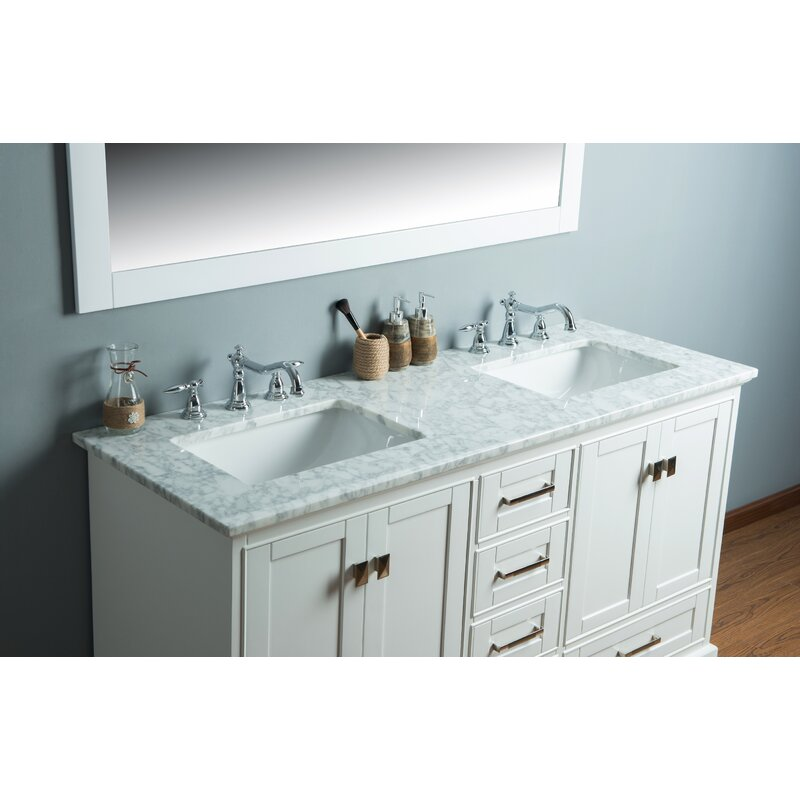 stian 60 double sink bathroom vanity set - Double Sink Bathroom Vanities