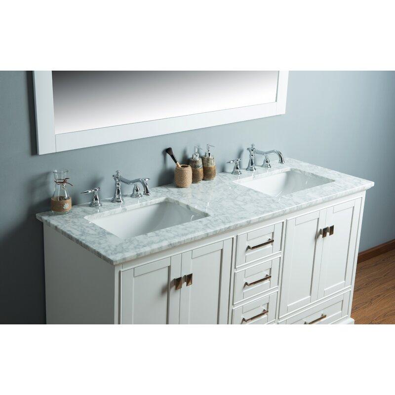 stian 60 double sink bathroom vanity set - Double Sink Bathroom Vanities