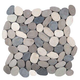 Flat Venetian Pebbles 12 X Mosaic Tile In Medici Blend