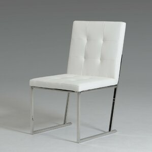 clower modern upholstered stainless steel parsons chair set of 2