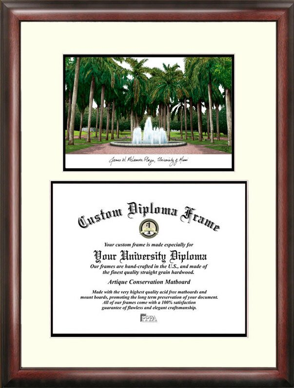 Campus Images Ncaa Miami University Scholar Diploma Picture Frame