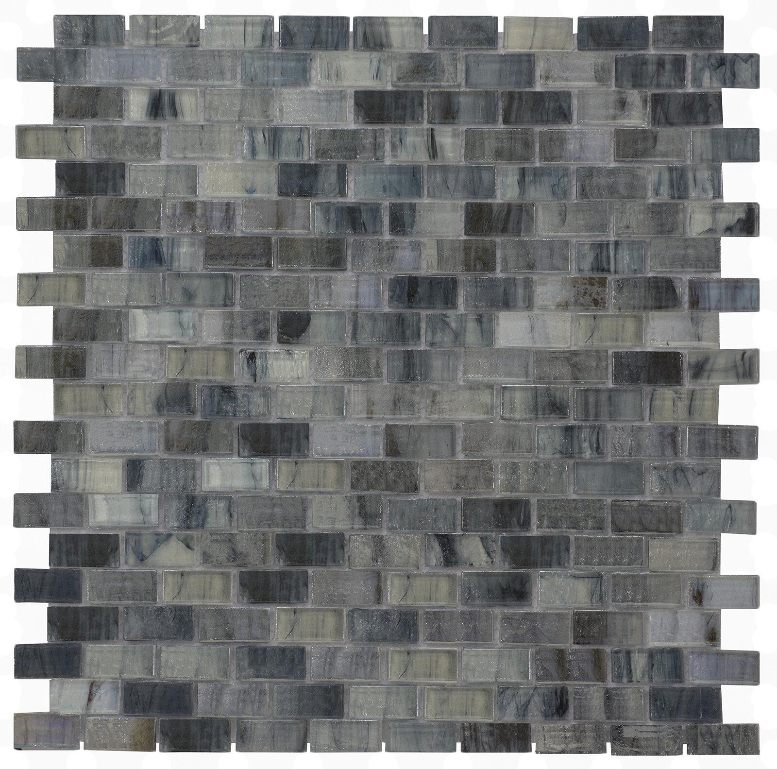 Melay Gl Versa 12 28 X 99 Mosaic Tile In Dark Blue Wayfair