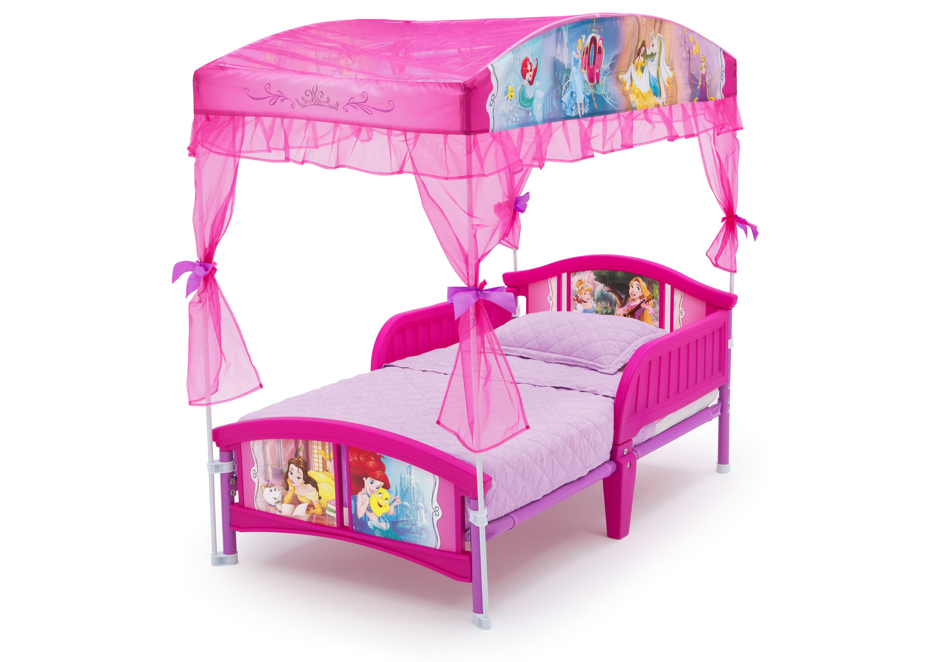 Delta Children Disney Princess Toddler Canopy Bed Reviews Wayfair