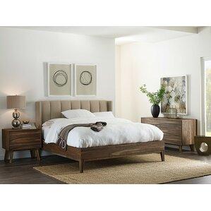 crawford upholstered panel bed - Cindy Crawford Furniture