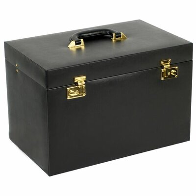 Charlton Home Extra Large Jewelry Trunk Color: Black