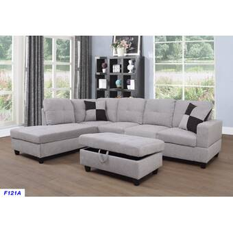 Winston Porter Maumee Sectional with Ottoman & Reviews | Wayfair