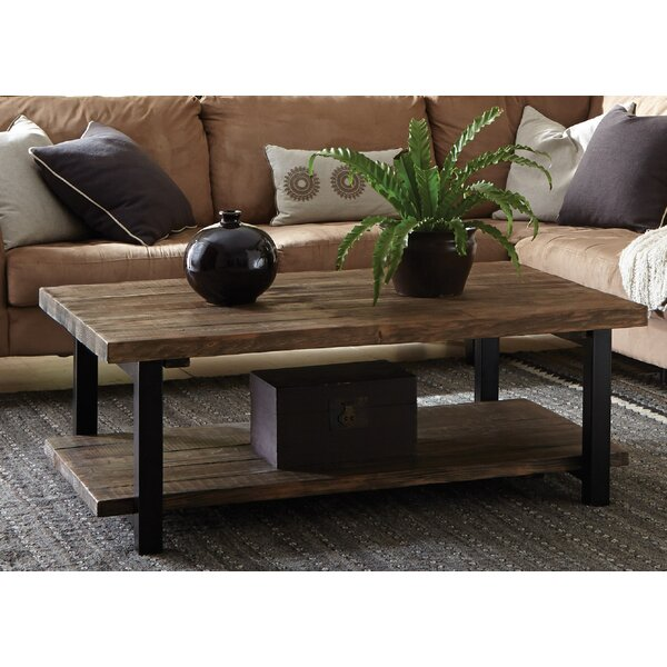 Chevron Wood Coffee Table Wayfair - Distressed wood and metal coffee table