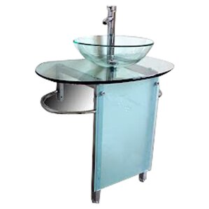 30 Bathroom Pedestal Vanity Glass Vessel Sink Set metal bathroom vanities you'll love | wayfair