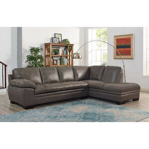 Nick Top Grain Leather Sectional by Red Barrel Studio