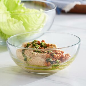 Selene Glass Salad Bowl