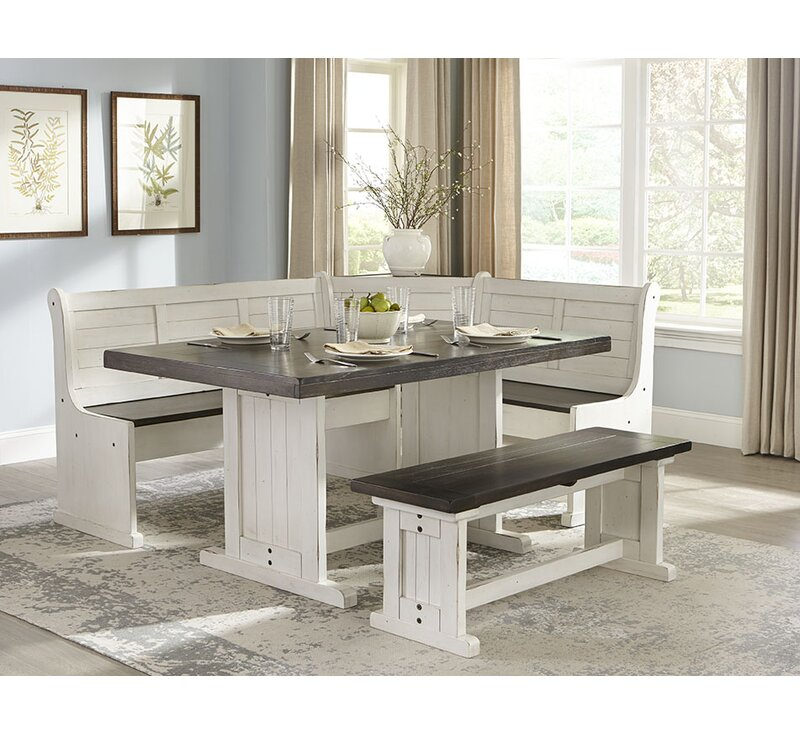 Beau Villepinte 5 Piece Breakfast Nook Dining Set
