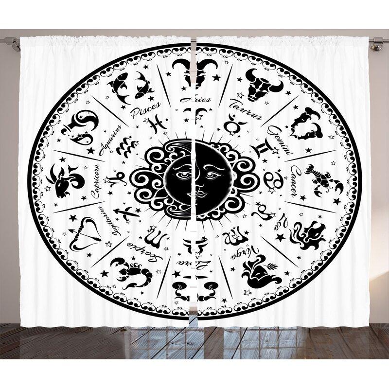 Bloomsbury Market Broughton Zodiac Minimalist Rounded Symbols