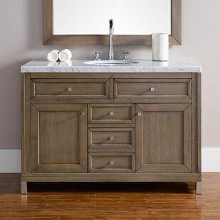 Valladares 48 Single White Washed Walnut Base Bathroom Vanity Set